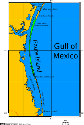 Map of Padre Island